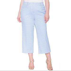 NEW Eloquii Plus Sz 22 Jaye Cropped Checked Pant